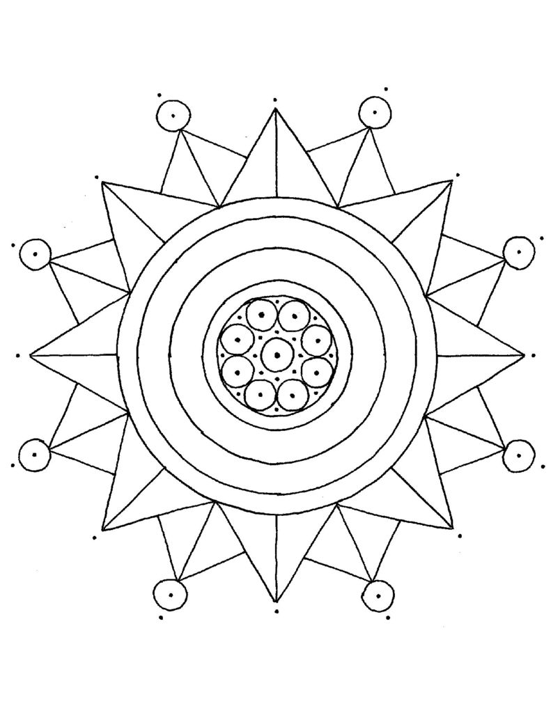 Thumbnail of Mandala Coloring Page